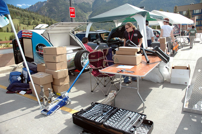 All of these tools and products were hauled by the MINI-FINI teardrop trailer.