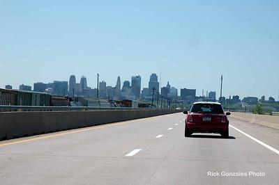 The Kansas City skyline.