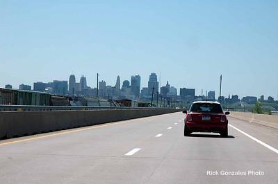 The Kansas City skyline.