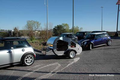 The Dragon Wagon and PauHana in front of Omaha MINI.