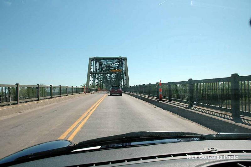 Crossing the Missouri River into Missouri.