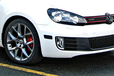Subtle black outs on a white GTI....