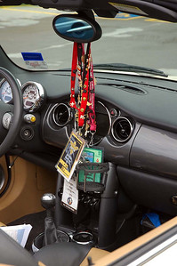 Ronald's badges and lanyards from previous national MINI events.