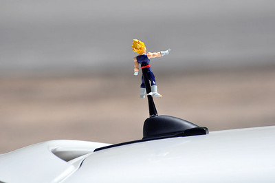 MITM Day 1. Goku hitches a ride on the antenna.