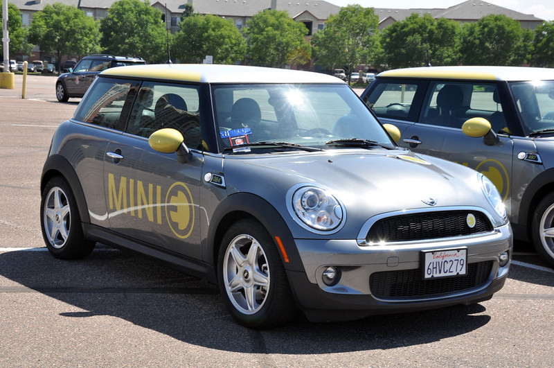 MTTS Day 3. Most likely the MINI E's first trip to Colorado.