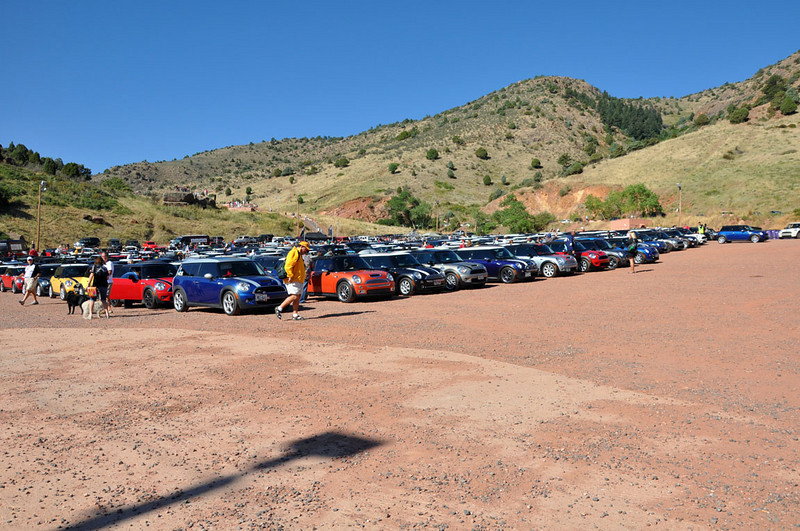 MITM Day 3. MITM and MTTS MINIs gather at Red Rocks Park near Denver.