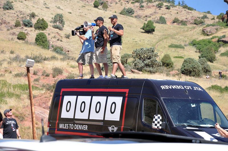 MITM Day 3, MTTS Day 2. MINI USA photogs getting ready for the group shot at Red Rocks Park (8/14/10).