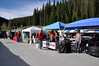 MITM Day 1. Vendor row at Winter Park Resort.