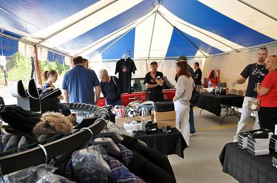 MITM Day 1. Inside the spacious Schomp MINI tent.