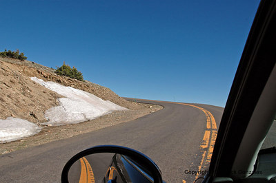 The Mt Evans road seems to head right into the sky!