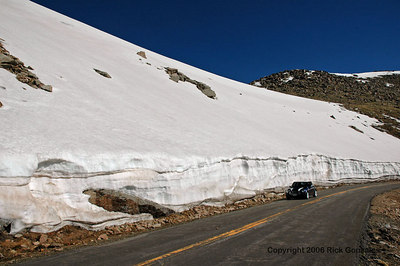Another snowfield encountered on the way to the summit.