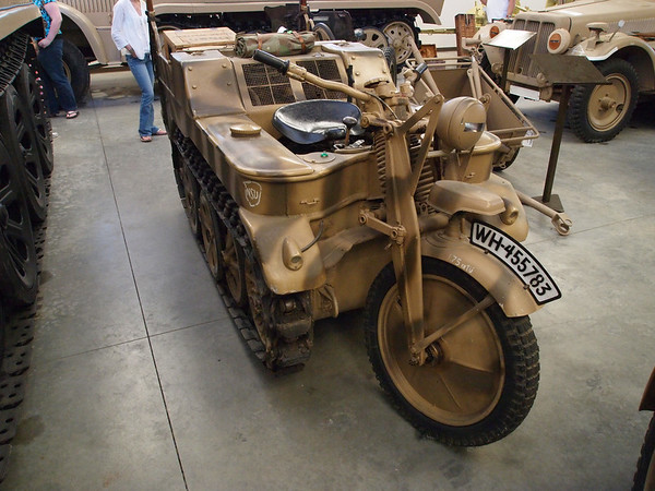 Tracked motorcycle.