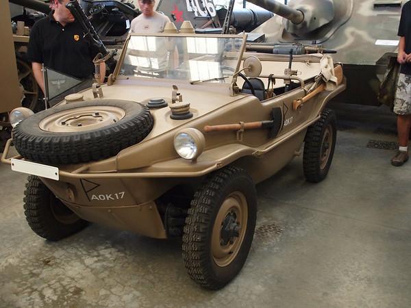 Amphibious vehicle.