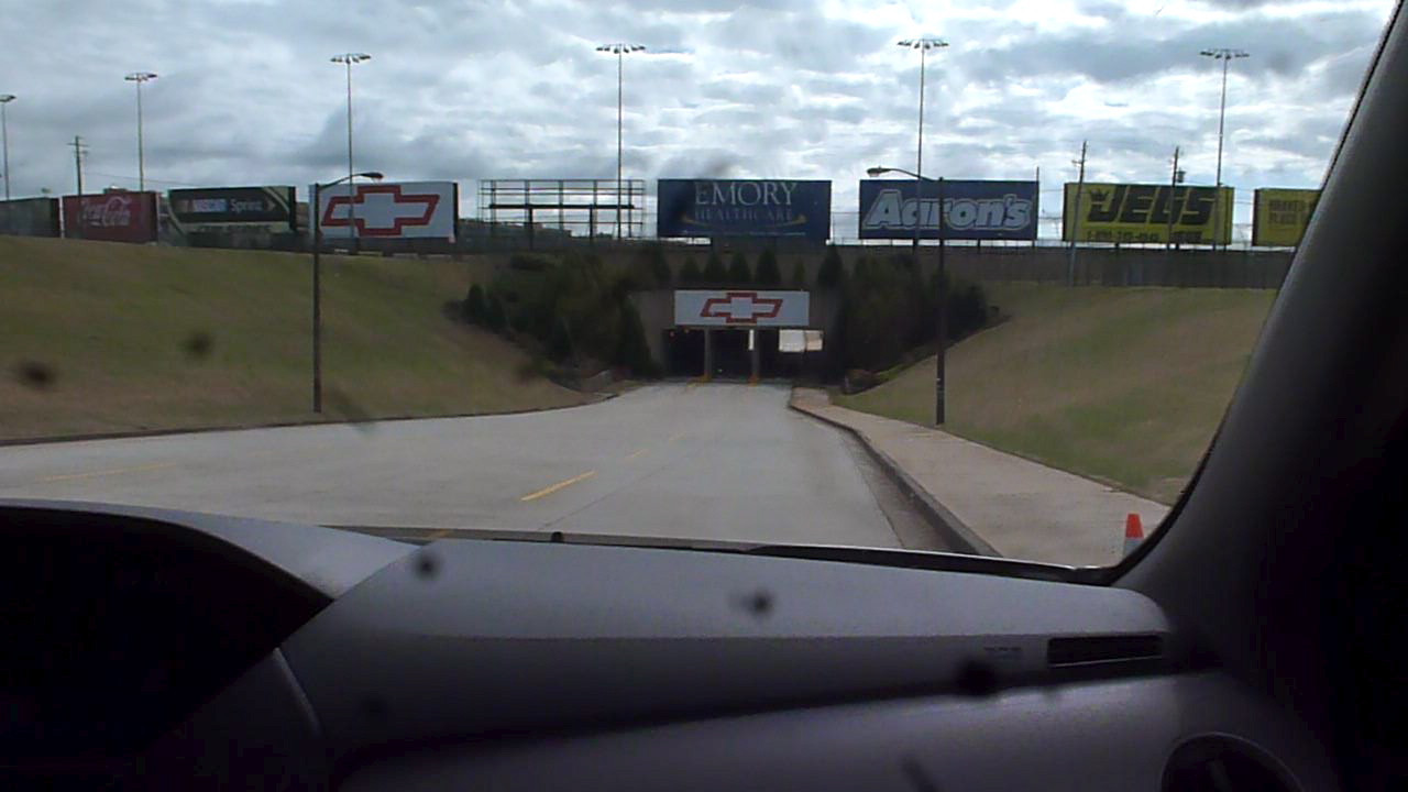 Entering the tunnel to infield