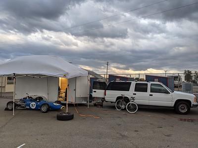 Windy pit campsite
