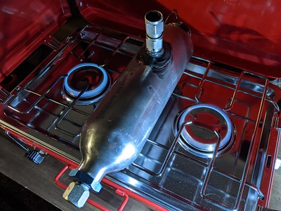 JB-Quik repair on the stove at 6:30 AM
