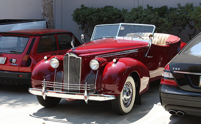 Packard Straight 8 our new ride to Starbuck's for espresso