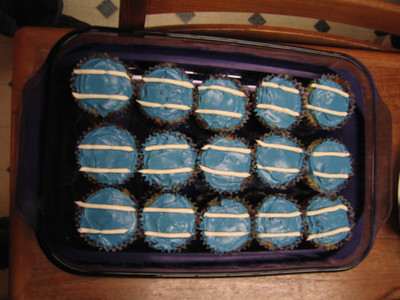 Cupcakes to honor Maggie's racing stripes and racing attitude!
