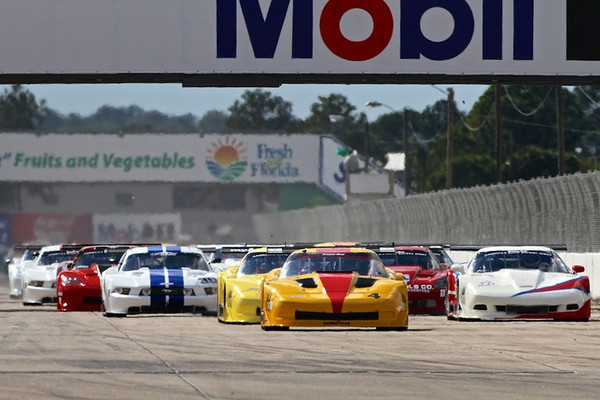 1 - 2013 - Round 1 SCCA TA at Sebring, pole winner Tony Ave leads at start