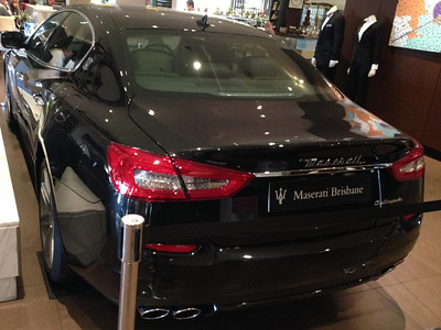 Maserati Quattroporte on display at Sofitel Brisbane, June 2014.