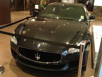 Phone pics of Maserati Quattroporte at Sofitel Brisbane, 2014