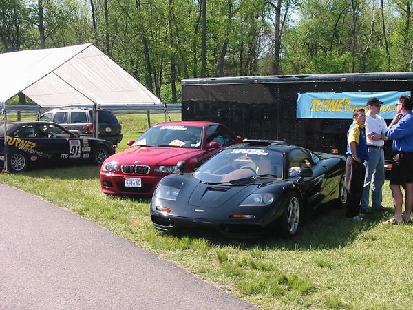 Car - at Lime Rock Park paddock with TMS M3