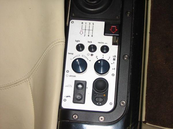 Interior - right side controls