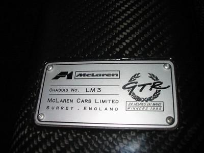 Interior - chassis plaque