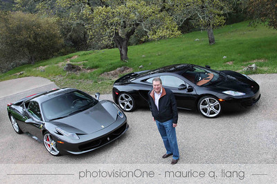 Larry with his cars.