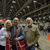 Part of Monaghen clan, Barbara, Doug and Dale at Mecum Auto Auction K.C., Mo.