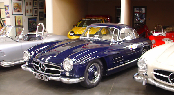 Mercedes Benz 300 SL Gull Wing at Madison Zamperini Collection.