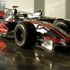 Lewis Hamilton's 2007 McLaren F1 car with Mika Hakkinen's car behind