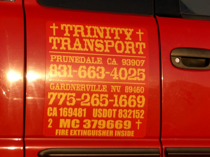 Trinity Transport of Prundale, CA