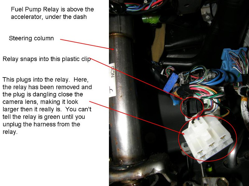 Where is fuel pump relay located mx 5 miata forum ps this is from a 1999 sciox Image collections