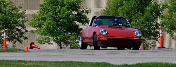 Don Sjolin drove his Porsche 911 Targa to 4th in Class E and 10th overall with a best time of 49.171.  A record 32 drivers competed in the opening round of the Michiana BMW CCA autocross season at the Tire Rack on May 19, 2012. (Bradley S. Pines / CONTACT: OneTrackMind.brad@gmail.com)