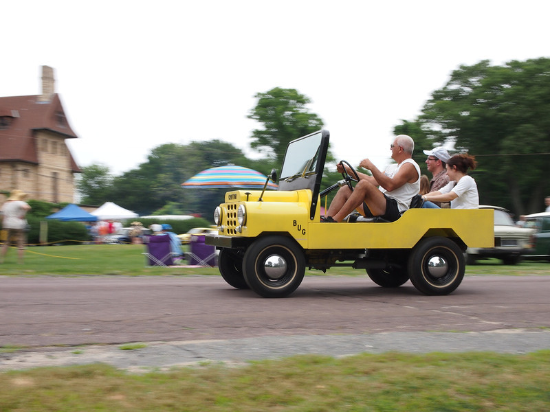 Crofton Bug giving rides at the Microcar and Minicar show at Larz Andersen Auto Museum in Brookline, MA on July 15, 2012