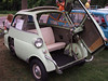 1957 BMW Isetta at the Microcar and Minicar show at Larz Andersen Auto Museum in Brookline, MA on July 15, 2012
