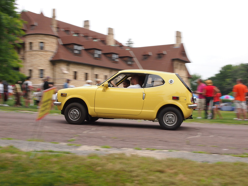 Honda giving rides at the Microcar and Minicar show at Larz Andersen Auto Museum in Brookline, MA on July 15, 2012