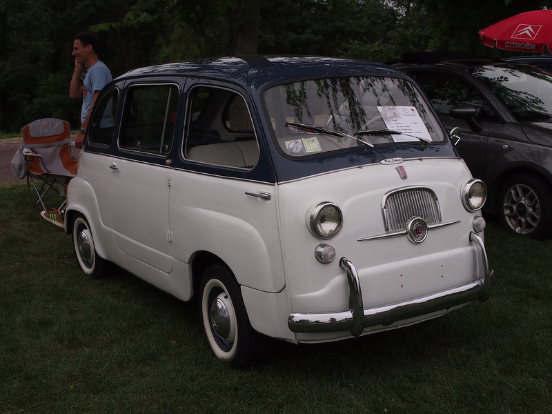 1967 Fiat Multipla at the Microcar and Minicar show at Larz Andersen Auto Museum in Brookline, MA on July 15, 2012