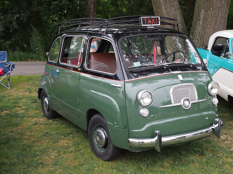 Fiat 750 Taxi at the Microcar and Minicar show at Larz Andersen Auto Museum in Brookline, MA on July 15, 2012