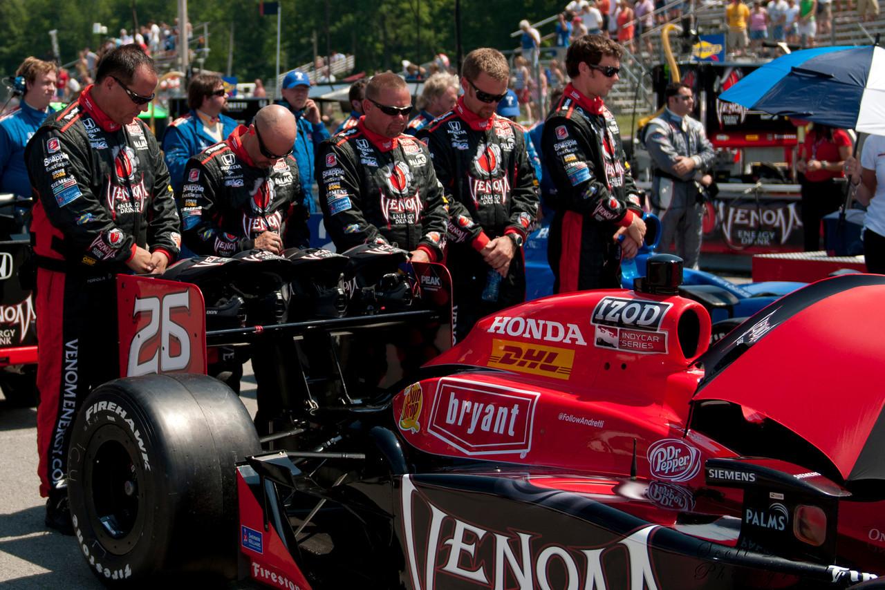 IZOD Honda Indy#26 Marco Andretti of team Andretti Autosport before the Honda Indy 200 at Mid-Ohio in Lexington,Ohio.