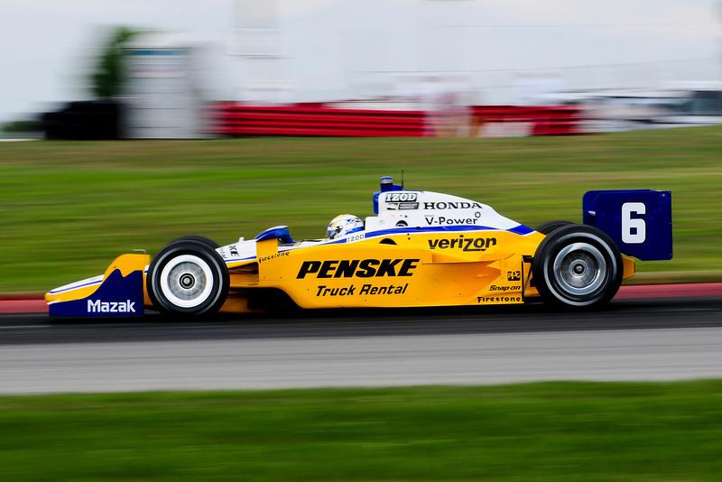 IZOD Honda Indy driver   during the Honda Indy 200 at Mid-Ohio in Lexington,Ohio.