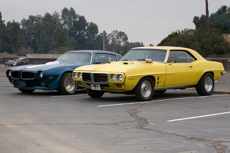 Brian's 1970 Trans Am and my 1969 Firebird 400