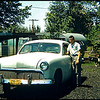 Taken in 1960, my second car, 1951 Ford, a poor boys custom! I was 17, in Ohio Scanned from a slide.