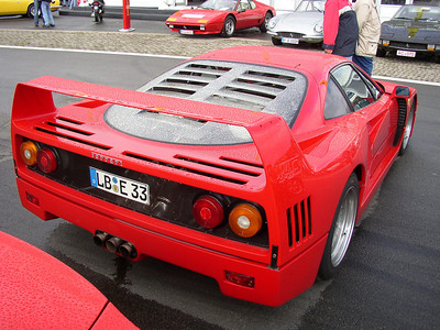 Ferrari F40 at the Nürburgring (AVD Oldtimer Grand Prix 2006)