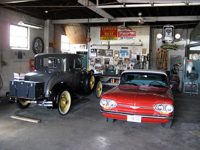 A couple more of my Grandfather's cars - Ford Model A and Chevy Corvair.