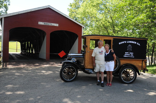 Model T 100th B-Day Party Week---Wednesday Toured the countryside by taking the covered bridges tour.