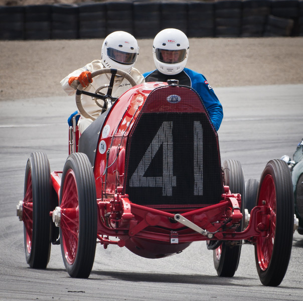1911 Fiat S74 exits Andretti hairpin