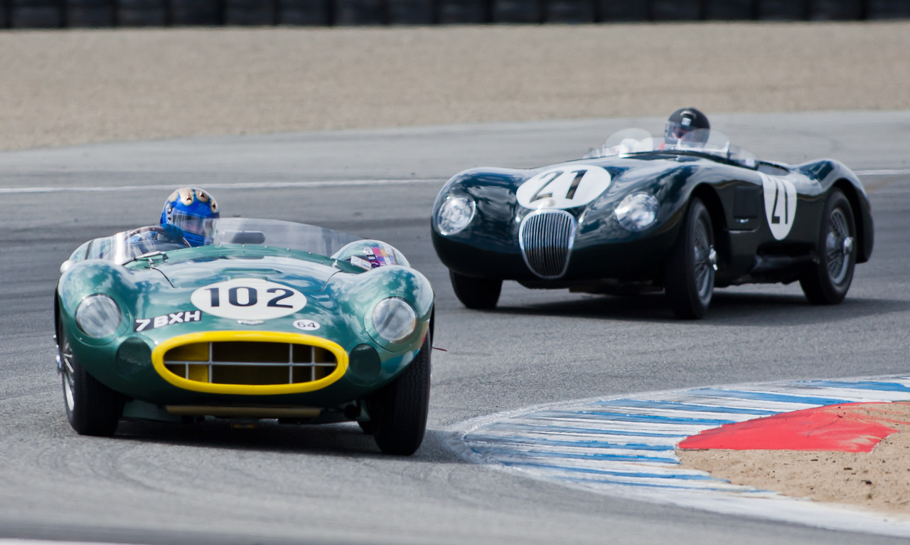 1957 Aston Martin DBR2 and C-Type Jaguar