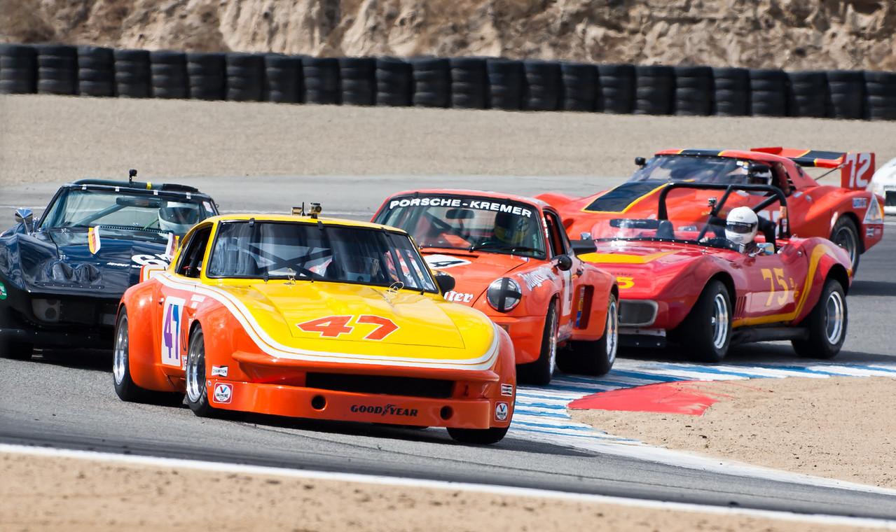 Tight racing in IMSA GT, GTX group